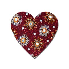 India Traditional Fabric Heart Magnet