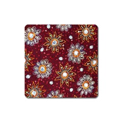 India Traditional Fabric Square Magnet