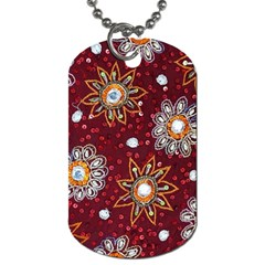 India Traditional Fabric Dog Tag (one Side)