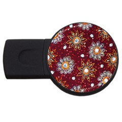 India Traditional Fabric Usb Flash Drive Round (2 Gb)