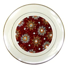 India Traditional Fabric Porcelain Plates