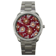 India Traditional Fabric Sport Metal Watch
