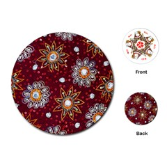 India Traditional Fabric Playing Cards (round)