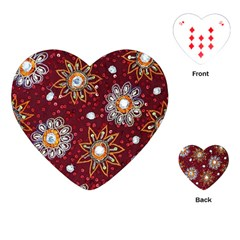 India Traditional Fabric Playing Cards (heart)