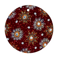 India Traditional Fabric Round Ornament (two Sides)
