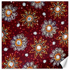 India Traditional Fabric Canvas 16  X 16