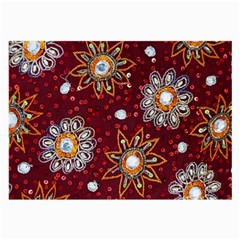 India Traditional Fabric Large Glasses Cloth (2 Side)