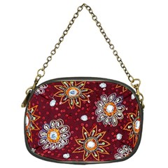 India Traditional Fabric Chain Purses (One Side)