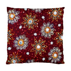 India Traditional Fabric Standard Cushion Case (one Side)
