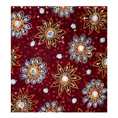 India Traditional Fabric Shower Curtain 66  X 72  (large)