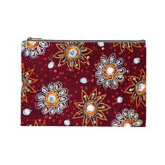 India Traditional Fabric Cosmetic Bag (Large)