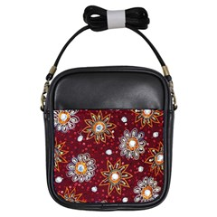 India Traditional Fabric Girls Sling Bags