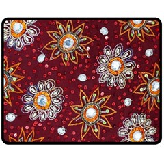 India Traditional Fabric Fleece Blanket (medium)