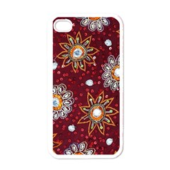 India Traditional Fabric Apple Iphone 4 Case (white)