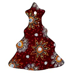 India Traditional Fabric Christmas Tree Ornament (two Sides)