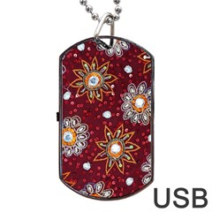 India Traditional Fabric Dog Tag Usb Flash (two Sides)
