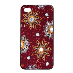 India Traditional Fabric Apple Iphone 4/4s Seamless Case (black)