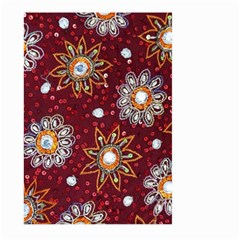 India Traditional Fabric Large Garden Flag (two Sides)