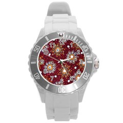 India Traditional Fabric Round Plastic Sport Watch (l)