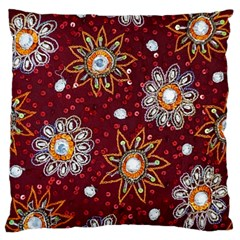 India Traditional Fabric Large Cushion Case (two Sides)