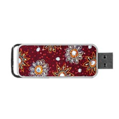 India Traditional Fabric Portable USB Flash (Two Sides)