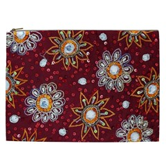 India Traditional Fabric Cosmetic Bag (xxl)