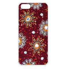India Traditional Fabric Apple Iphone 5 Seamless Case (white)