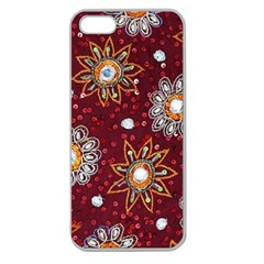 India Traditional Fabric Apple Seamless iPhone 5 Case (Clear)