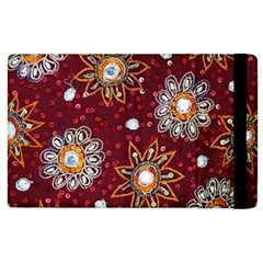 India Traditional Fabric Apple Ipad 2 Flip Case
