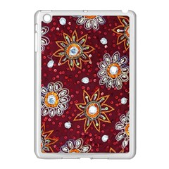 India Traditional Fabric Apple Ipad Mini Case (white)