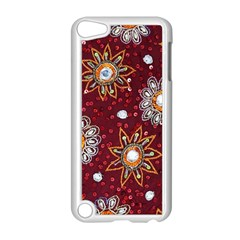 India Traditional Fabric Apple Ipod Touch 5 Case (white)
