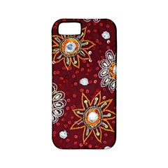 India Traditional Fabric Apple iPhone 5 Classic Hardshell Case (PC+Silicone)