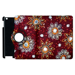 India Traditional Fabric Apple Ipad 2 Flip 360 Case