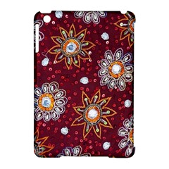 India Traditional Fabric Apple Ipad Mini Hardshell Case (compatible With Smart Cover)