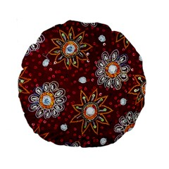India Traditional Fabric Standard 15  Premium Round Cushions