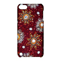 India Traditional Fabric Apple Ipod Touch 5 Hardshell Case With Stand