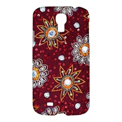 India Traditional Fabric Samsung Galaxy S4 I9500/I9505 Hardshell Case