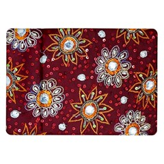 India Traditional Fabric Samsung Galaxy Tab 10 1  P7500 Flip Case