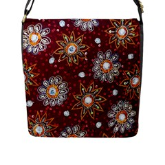 India Traditional Fabric Flap Messenger Bag (l)