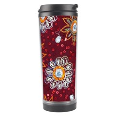 India Traditional Fabric Travel Tumbler