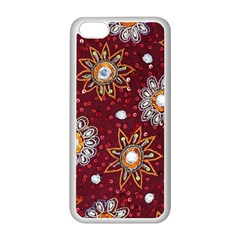 India Traditional Fabric Apple iPhone 5C Seamless Case (White)