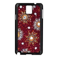 India Traditional Fabric Samsung Galaxy Note 3 N9005 Case (Black)