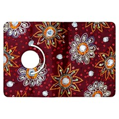India Traditional Fabric Kindle Fire HDX Flip 360 Case