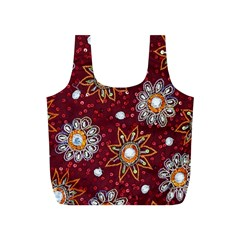 India Traditional Fabric Full Print Recycle Bags (s)