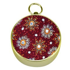 India Traditional Fabric Gold Compasses