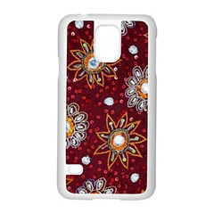 India Traditional Fabric Samsung Galaxy S5 Case (White)