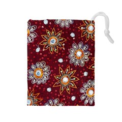 India Traditional Fabric Drawstring Pouches (large)