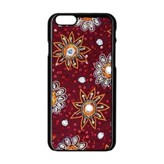 India Traditional Fabric Apple Iphone 6/6s Black Enamel Case