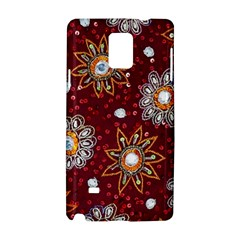 India Traditional Fabric Samsung Galaxy Note 4 Hardshell Case