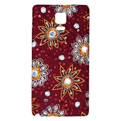 India Traditional Fabric Galaxy Note 4 Back Case